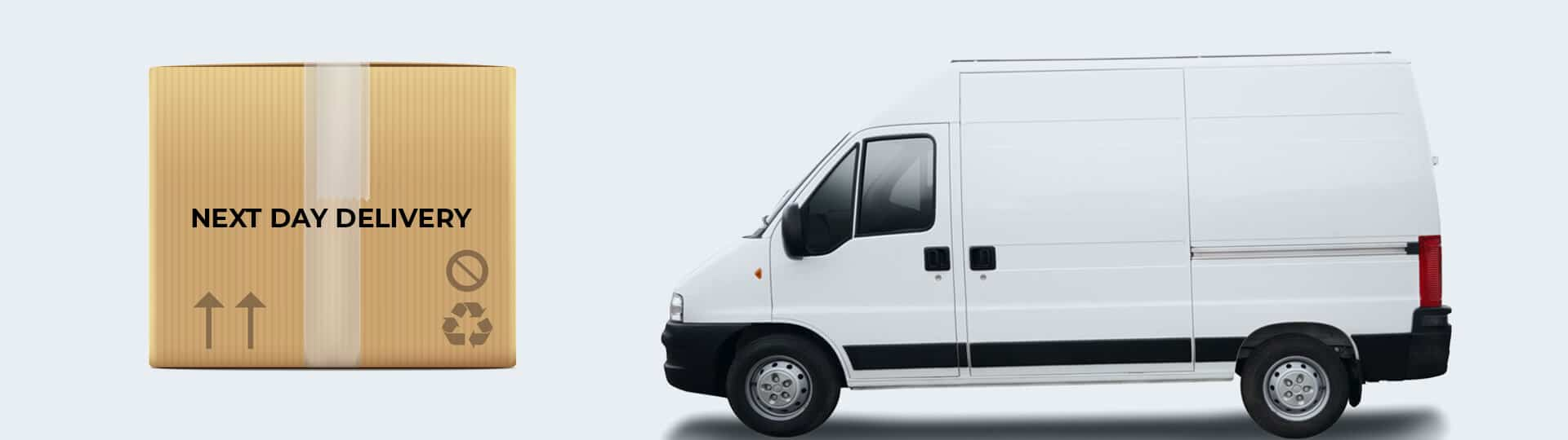 next day delivery, delivery truck for office supplies